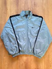 VINTAGE NIKE WARM UP JACKET TRACK BLUE TOP WOMENS LARGE 12 - 14