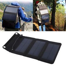 USB Charger 5V 5W Foldable Solar Panel Power Bank For Cell Phone PC Tablet MP3