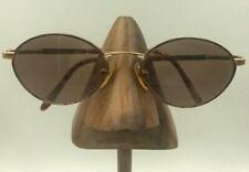 Vintage Elizabeth Arden Ea-637-1 Tortoise Gold Metal Oval Sunglasses Hong Kong