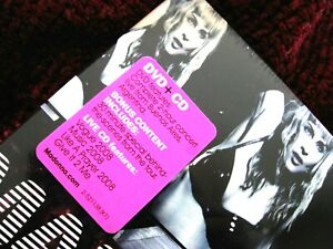 MADONNA SEALED STICKY & SWEET PROMO CD DVD BONUS BEHIND THE SCENES HYPE STICKER
