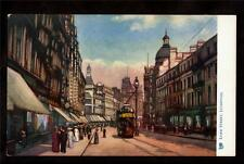 Tuck trolley Lord Street scene Liverpool Uk postcard