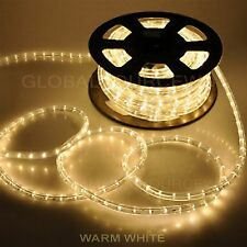"300' FEET LED Rope Lights WARM WHITE COLOR 1/2""/13MM 1656-LEDs 2 Rolls/150' each"