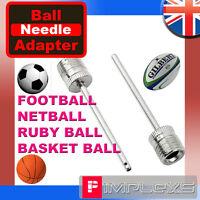FOOTBALL INFLATOR PUMP NEEDLE RUGBY NETBALL BASKETBALL VOLLEY BALL VALVE ADAPTER