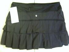 NWT Lululemon PACE SETTER REGULAR Skirt BLACK Tennis RUN Golf (Size 04 REG)