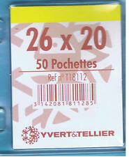1 Blister 50 Pochettes Transparentes simple soudure 26x20