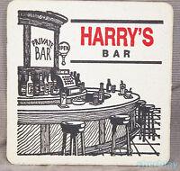 Vintage Beverage Bar Coaster HARRY'S BAR