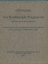 Otto Kletzl: Kreßberger Fragmente (Studie Münster Straßburg - Stephansdom Wien)