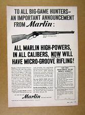 1956 Marlin Model 336 Rifles Micro-Groove Rifling vintage print Ad