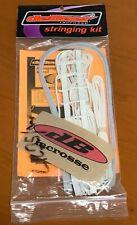 deBeer Women's Lacrosse Trakker Pro Stringing Kit White New