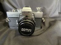 Minolta SR-T 202 Camera with Gemini Lens Vintage  UNTESTED