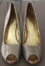 Gorgeous Gold GUESS Shoes Peep Toe Stiletto Heel Pumps Size 9M