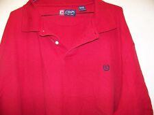 Chaps Polo Shirt Cotton Size 4XB Burgundy