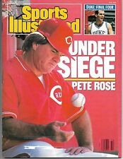 Sports Illustrated - Pete Rose -1 Lot of 2 Issues- Cincinnati Reds Baseball-1989