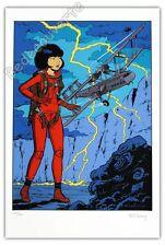 Affiche Sérigraphie Leloup Yoko Tsuno Message pour l'éternité 100ex signé 40x60