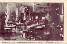 pre-1907 KING YEN LO CO. Chinese Restaurant Clark & Van Buren Sts CHICAGO 1908