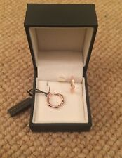 Gorgeous brand new Dinny Hall, Small bamboo Hoop Earrings Rose Gold