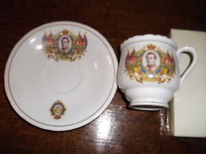 Royal Commenorative Cup and Saucer - Bone China Coronation of Edward VIII