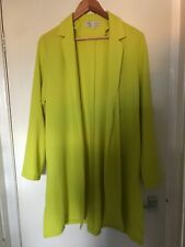 Ladies Cameo Rose Bright Coloured Long Over Coat Size 16 (N2)