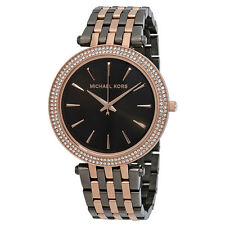 Michael Kors Darci Gunmetal and Rose Gold-Tone Ladies Watch MK3584