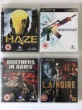 Paquete De Juegos PS3-Bodycount + Haze + L.A. Noire + hermanos en armas Hells Highway (821)