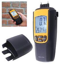 2 in 1 Moisture & Temperature Digital Meter °C °F Wood Cement Bricks Concrete