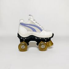 Vintage 2000s U Sport 4 Wheelers White and Lavender Roller Skates Us Womens 6