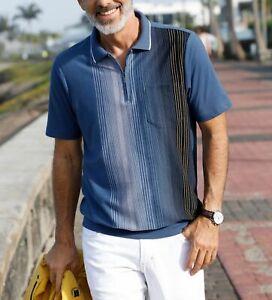 Babista Poloshirt mit Reißverschluss für herren in blau, Gr. 52