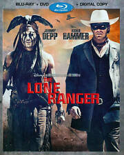 BLU-RAY THE LONE RANGER +DVD COMBO SET DISNEY'S JOHNNY DEPP
