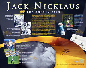 JACK NICKLAUS CERTIFIED AUTHENTIC AUTOGRAPHED SIGNED 16X20 PHOTO STEINER 43119
