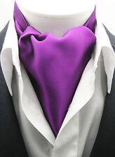 New Modern Day Silk Ascot Cravat Tie  Fuchsia Purple