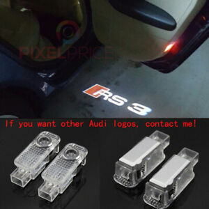 2Pcs Audi RS3 LOGO GHOST LASER PROJECTOR DOOR UNDER PUDDLE LIGHTS FOR AUDI RS3 -