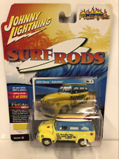 1950 Chevy Suburban Surf Van with Boards Yellow 1:64 Scale JLSF010A