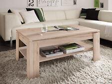 Couchtisch Beistelltisch Eiche San Remo hell Wohnzimmertisch Tisch mit Ablage