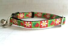 Strawberry Fields Breakaway Safety Kitty Cat Collar with removable bell!
