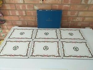 Royal Worcester Rectangle Placemats Holly Ribbons More Available Made In England