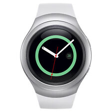 New White Samsung Galaxy Gear S2 R730a Stainless Steel. GSM Unlocked White Band