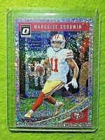 MARQUISE GOODWIN PRIZM WHITE SPARKLE /20 SSP CARD JERSEY #11 49ers SP 2018 Optic