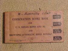 ORIGINAL WWII COMBINATION SCORE BOOK NAMED TO CCM SEABEES VETERAN - M1903 /  M1
