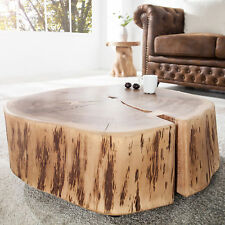 Couchtisch GOA 60 cm Akazie Massivholz mit Rollen Tisch Beistelltisch Holztisch