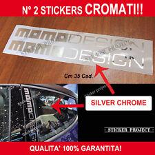 2 ADESIVI MOMO DESIGN Stickers Silver Chrome Renault Peugeot Citroen Nissan
