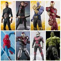 SHF S.H.FlGUARTS Ironman Thanos Spiderman Hawkeye Antman Captain America Figure