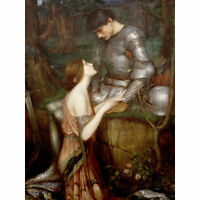 John Waterhouse Lamia Cropped Extra Large Art Poster