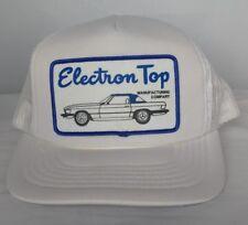 1980s Electron Top Car Convertible Trucker Hat Patch Mesh Snap Back Cap Snapback