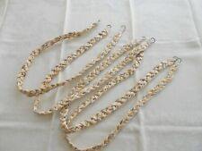Spring refresh! 4 vintage satin braided tiebacks for curtains, canopies, drapes