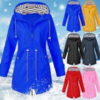 3 in 1 Womens Waterproof Raincoat Ladies Outdoor Wind Rain Forest Jacket Coat
