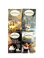1X Set Twinings Disney Beauty & The Beast Tea Bags 4 Flavors 20 Bags/Box x-2020