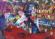 """LeRoy Neiman """"Frank at Rao's"""" NEW Poster Art Lithograph Sinatra Rat Pack print"""