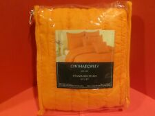 "Cynthia Rowley Standard Tangerine Orange Pillow Sham 21"" x 27"" New In Package"