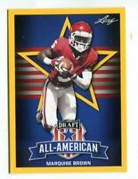 "MARQUISE BROWN 2019 LEAF ALL-AMERICAN ""1ST EVER PRINTED"" GOLD ROOKIE CARD!"