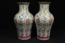 beautiful chinese famille rose porcelain vases